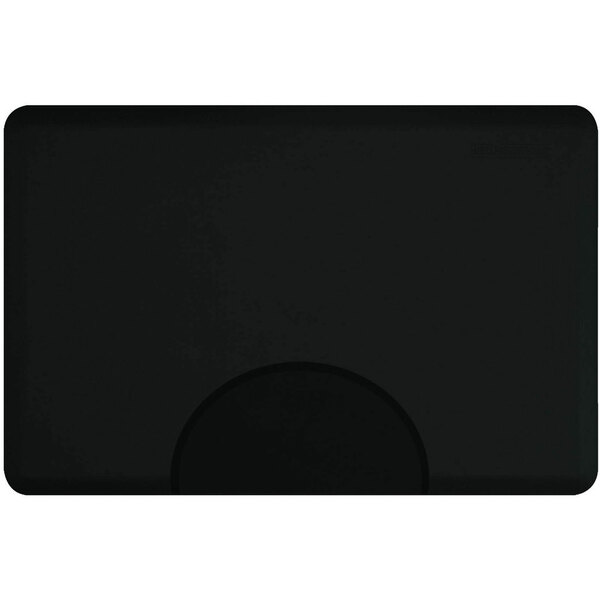 3'x4.5' Elite Series Rectangle Salon Mat with Chair Depression in Black (SS3045R75)