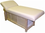 "Taj Mahal ""Glow"" Tilt Back Massage Table with Cabinet (TTM-3007 TW CAB)"