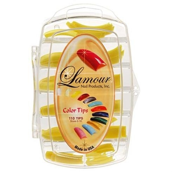 Lamour Colored Nail Tip # L-8 Box of 110 (110237)