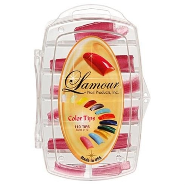 Lamour Colored Nail Tip # L-23 Box of 110 (110248)