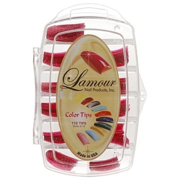 Lamour Colored Nail Tip # L-25 Box of 110 (110250)
