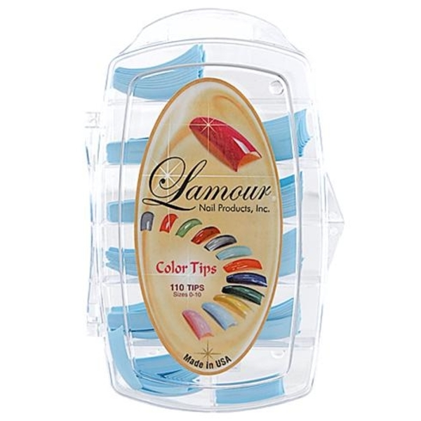 Lamour Colored Nail Tip # L-1 Box of 110 (110287)