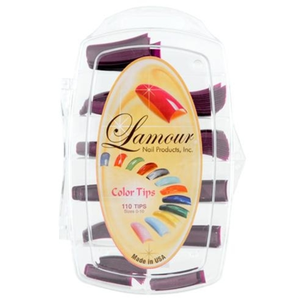 Lamour Colored Nail Tip # L-44 Box of 110 (110307)