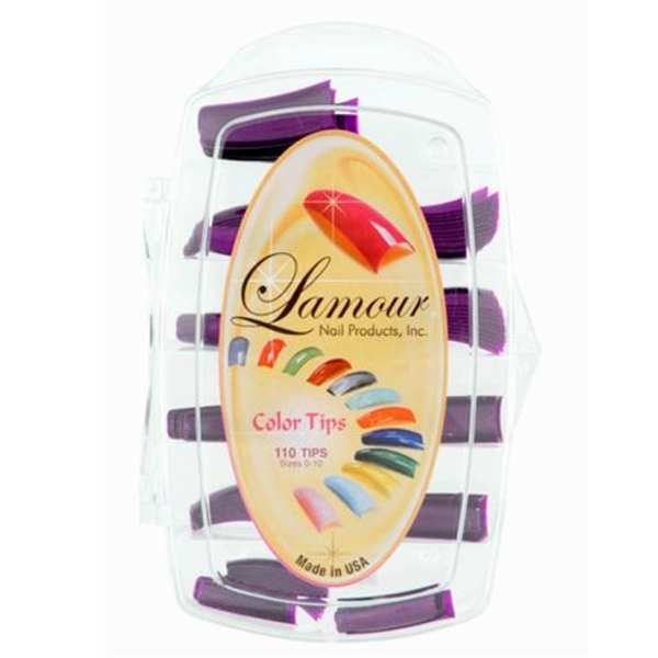 Lamour Colored Nail Tip # L-50 Box of 110 (110309)