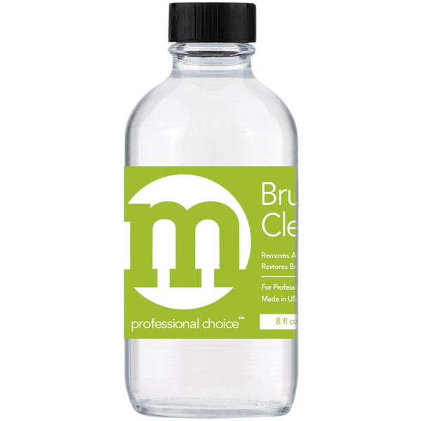 M Professional Choice - Nail Brush Cleaner - Quickly Removes Residue & Build-Up 8 oz. (236.59 mL.) (118009)