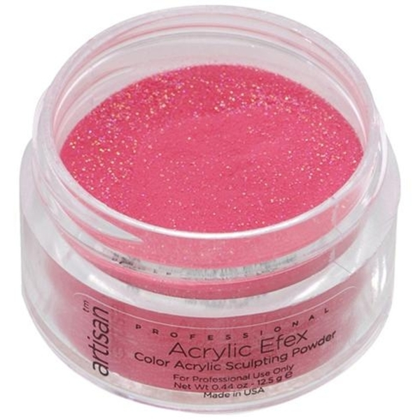 Artisan Color Acrylic Powder - Fuschia Sparkles 0.5 oz. (119121)