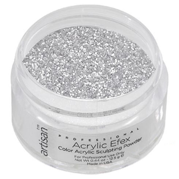 Color Acrylic Powder - Silver Shimmer - 0.5 oz. 14.17 Grams (119192)