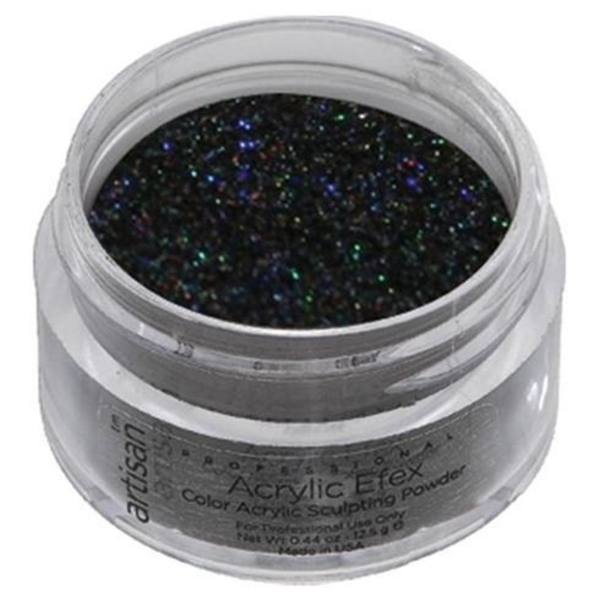 Color Acrylic Powder - Holographic Black Glitter - 0.5 oz. 14.17 Grams (119193)