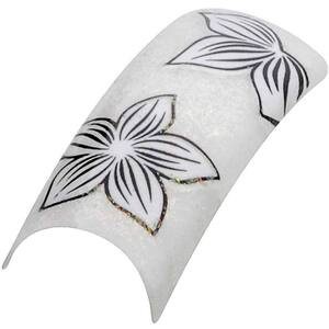 Artisan Pre Designed Nail Tips - Flower Design #08 Pack of 100 (119613)