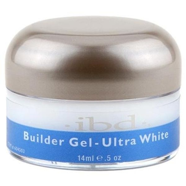 IBD Gel Nail Builder Gel - Ultra White 0.5 oz. (120019)
