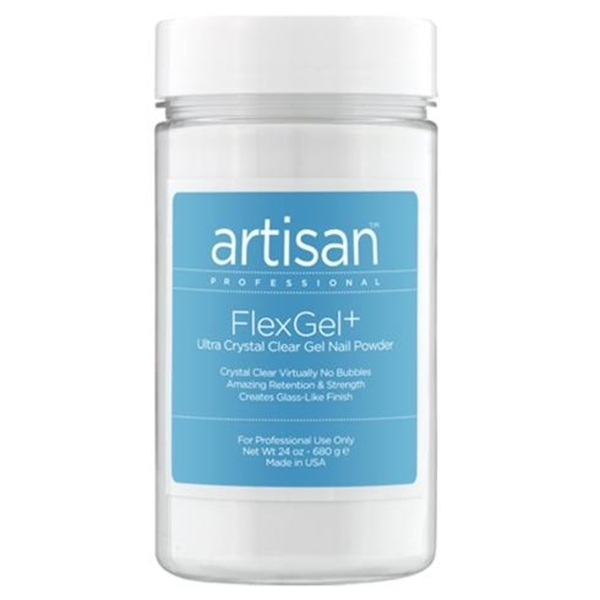 Artisan FlexGel+ Crystal Clear Gel Nail Powder 24 oz. (129002)