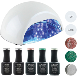 Artisan GelEfex Advanced Formula Gel Nail Polish Kit & ProMaster CCFLLED Gel Nail Light - Glitzy Glam Girl (129024)