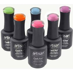Artisan GelEfex Glow-In-The-Dark Gel Nail Polish - Dancing 'N Glowing Collection Set of 6 (129937)