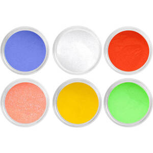 Artisan EZ Dipper Colored Acrylic Nail Dipping Powder - Color Carnival Collection - Set of 6 x 0.5 oz (139208)