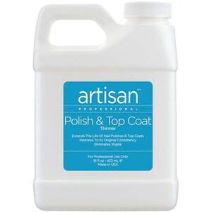 Artisan Nail Polish and Top Coat Thinner - Quickly Thin Out - Restore - Refill Size - 16 oz (473 mL.) (229000)