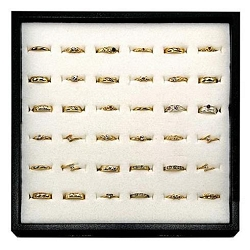 Gold Adjustable Toe Ring Set 36 Pieces (320019)