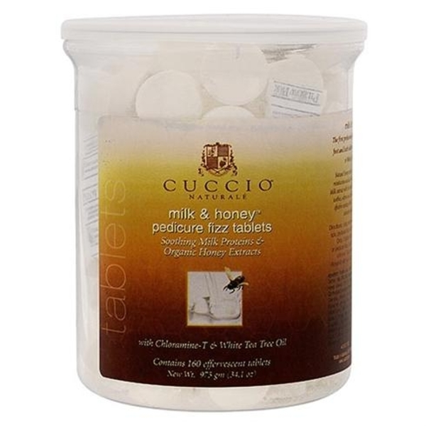 Cuccio Milk & Honey Pedicure Tablets 160 Count (320104)