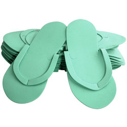 Comfy Foam Pedicure Slippers - Sewed Strap - Green Case of 240 Pairs (320159)