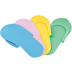 Non-Skid Spa Pedicure Slippers - Flip-Flops - Sewed Strap - Assorted Colors - Case of 240 pairs (320166)