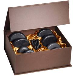 Hot Stone Massage Therapy Set - Melts Away Tension - Ease Muscle Stiffness - Set of 16 Pieces (379018)