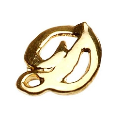 "Gold Nail Charms - ""D"" Character Pack 20-Count (520004)"