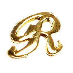 "Gold Nail Charms - ""R"" Character Pack 20-Count (520018)"