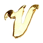 "Gold Nail Charms - ""V"" Character Pack 20-Count (520022)"
