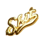 "Gold Nail Charms - ""Sh.."" Pack 20-Count (520032)"