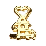 "Gold Nail Charms - ""Heart and $"" Pack 20-Count (520047)"