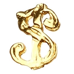 "Gold Nail Charms - ""$"" Sign Pack 20-Count (520068)"