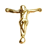 "Gold Nail Charms - ""Jesus On A Cross"" Pack 20-Count (520071)"