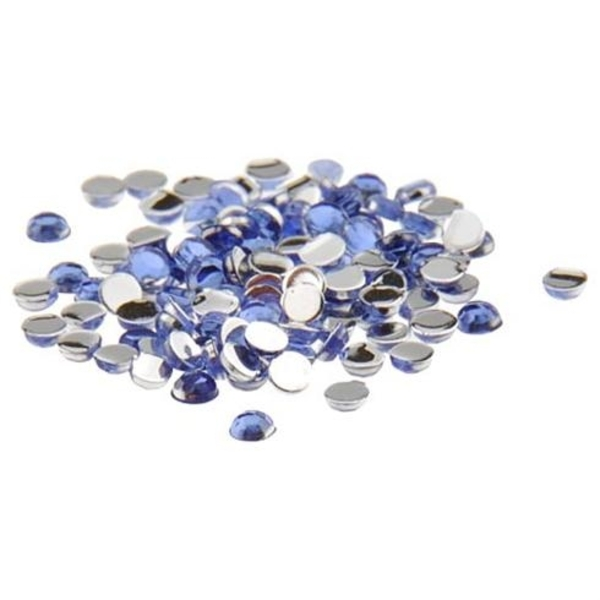 Nail Art Rhinestone - Blue 100-Count (520098)