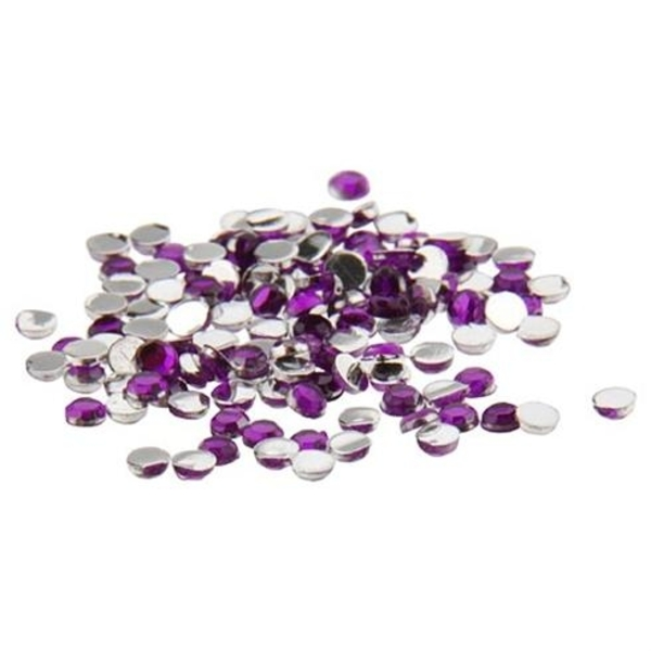Nail Art Rhinestone - Purple 100-Count (520104)