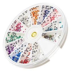 Nail Art Rhinestone Kit - Square Shape 1200-Count (520151)
