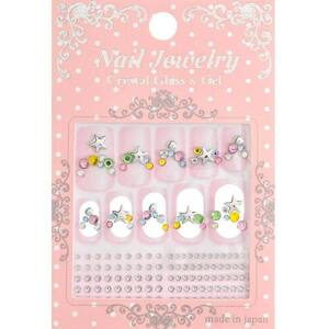 Japanese 3D Nail Art Stickers - Birthstones & Star - P-10 - Each (520318)