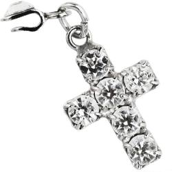 Japanese 3D Nail Art Jewelry - Clip On Dangling Charm - Symbol of Faith Studded with Swarovski Crystal - Each (520327)