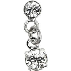 Japanese 3D Nail Art Jewelry - Dangling Charm - Silver Diamond Charm - Each (520374)