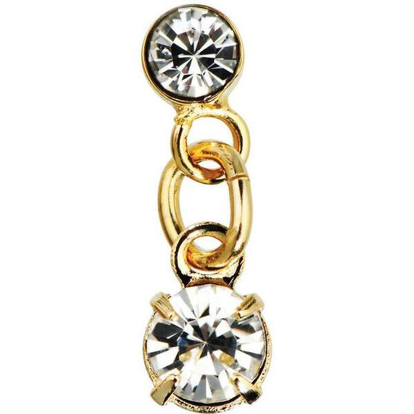 Japanese 3D Nail Art Jewelry - Dangling Charm - Gold Diamonds Charm - Each (520375)