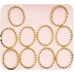 Japanese 3D Nail Charms - Trendy Gold Rings - 10 Stickers (520383)