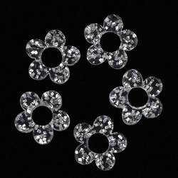 Japanese 3D Nail Charms - Crystal Flower Decals - 5 Decals (520386)