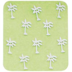 Japanese 3D Nail Charms - Breezy White Palm Trees - 10 Stickers (520390)
