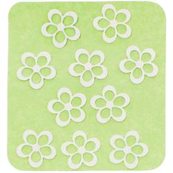 Japanese 3D Nail Charms - Radiant Silver Flowers - 10 Stickers (520397)
