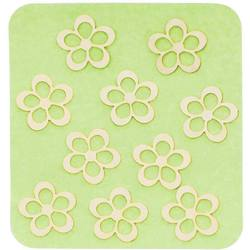 Japanese 3D Nail Charms - Radiant Golden Flowers - 10 Stickers (520398)