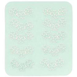 Japanese 3D Nail Charms - Trio Of Silver Flowers - 10 Stickers (520403)
