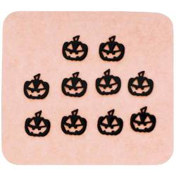 Japanese 3D Nail Charms - Spooky Black Pumpkins - 10 Stickers (520409)