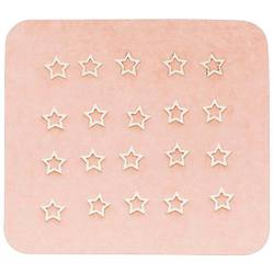 Japanese 3D Nail Charms - Mini Dreamy Silver Stars - 20 Stickers (520439)