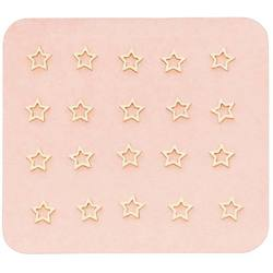 Japanese 3D Nail Charms - Mini Dreamy Golden Stars - 20 Stickers (520440)