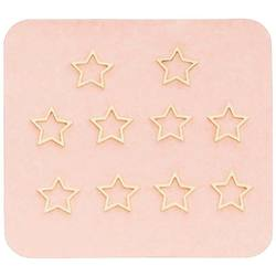 Japanese 3D Nail Charms - Gold Stars - 10 Stickers (520442)