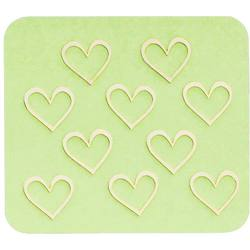 Japanese 3D Nail Charms - Golden Hearts - 10 Stickers (520444)