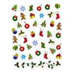 Nail Art Stickers - Christmas #7 - Each (520464)
